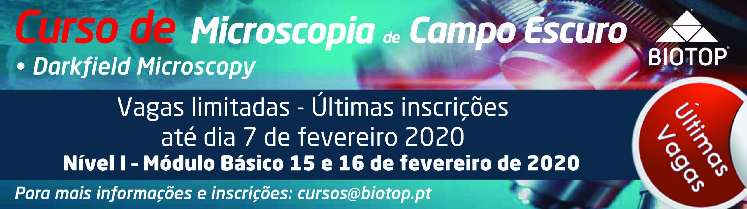 Curso de Microscopia de Campo Escuro 2020 - últimas inscrições